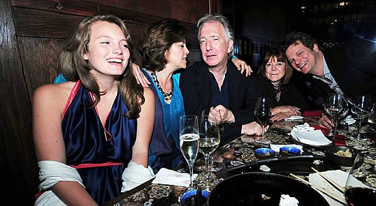 Alan Rickman Family Sitting with alan rickman,